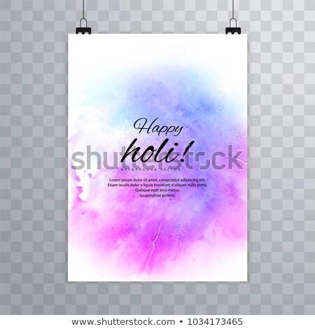 Folheto grunge colorido textura festival modelo Foto stock © bharat