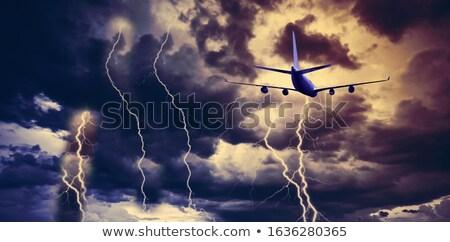 Avión aeropuerto tierra 13 viaje luces Foto stock © c-foto