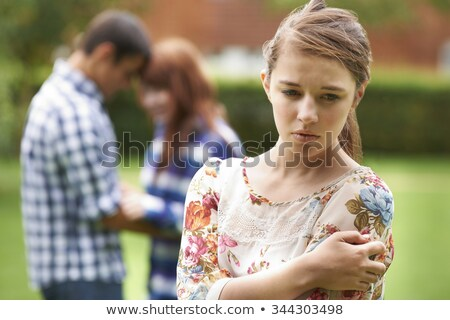 jealous teenage girl Stock photo © ambro