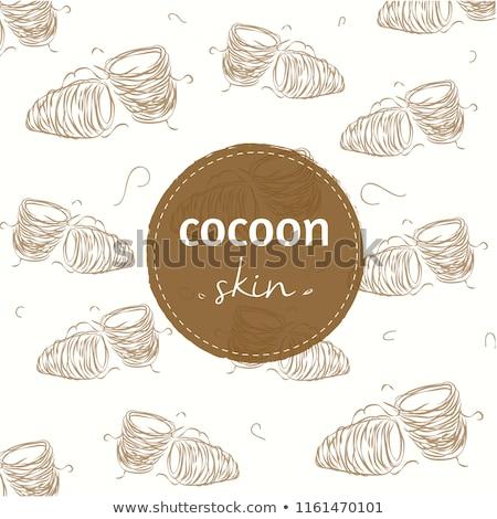 orange silkworm cocoons stock photo © smithore
