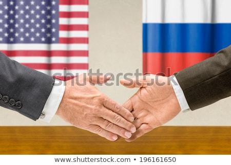 Foto d'archivio: USA · Russia · stringere · la · mano · business · mani · successo