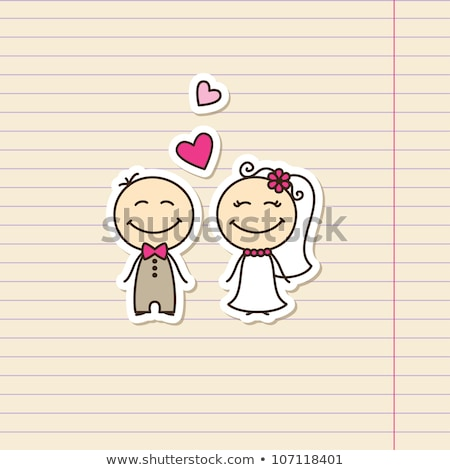 Photo stock: Marié · page · garçon · mariage · heureux · enfant