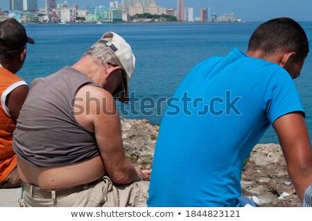 Tenger Havanna Kuba égbolt természet tájkép Stock fotó © bmonteny