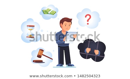 Procesamiento rojo blanco ley tribunal Foto stock © chrisdorney