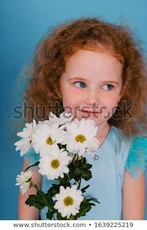Pretty little redhead girl with a cute expression Stock photo © mlyman