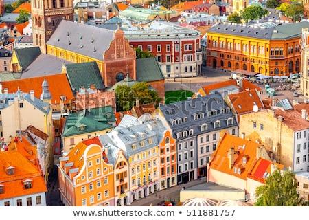 Eski Riga Letonya gökyüzü şehir Stok fotoğraf © amok