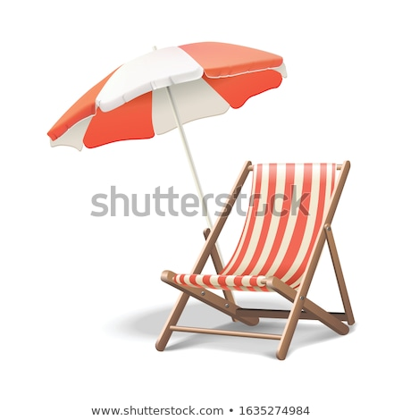 Beach Chairs and Parasol Stock photo © zhekos