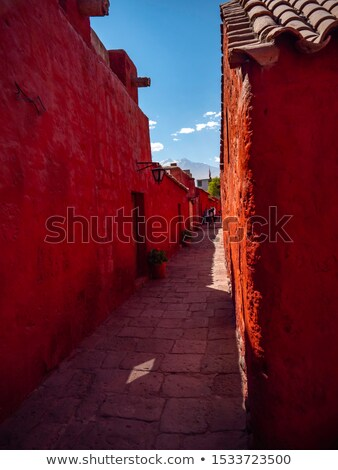 Binnenkant klooster Peru tweede Stockfoto © Hofmeester