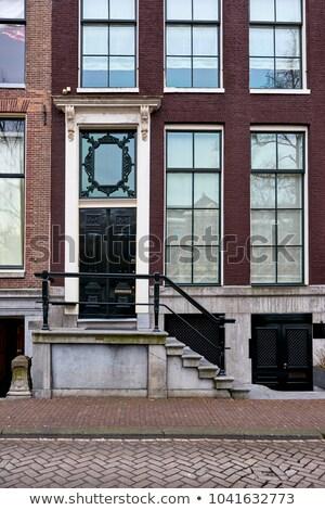 Domu Amsterdam szczegół Niderlandy miasta kot Zdjęcia stock © prill