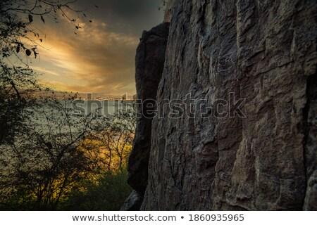 Kalksteen zonsondergang kleuren schoonheid reizen Stockfoto © taviphoto