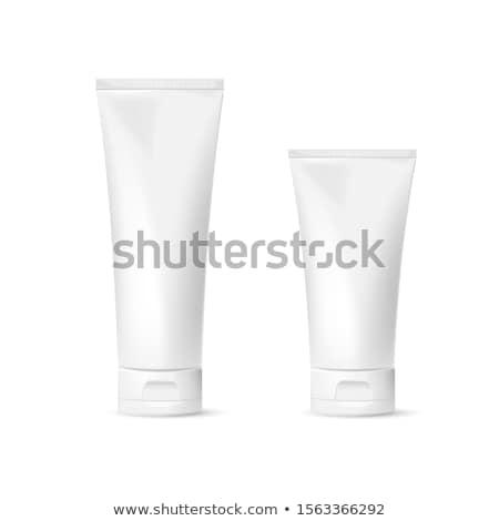 Tubo 3d plástico cosméticos artículos de tocador contenedor Foto stock © reticent