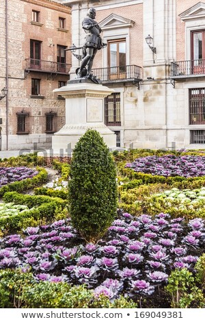 Admiral Bazan Statue Plaza de la Villa Madrid Spain Stock photo © billperry