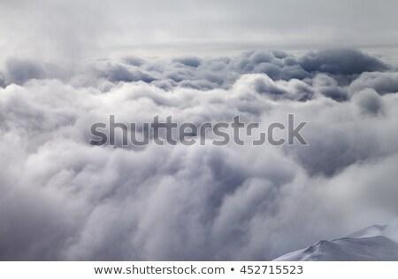 表示 スロープ 嵐雲 コーカサス 山 グルジア ストックフォト © BSANI