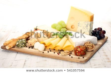チーズ ブドウ 紫色 シルク ボード 新鮮な ストックフォト © raphotos