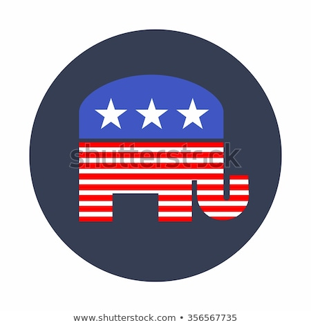 Stock photo: Rebublican Elephant with Flag