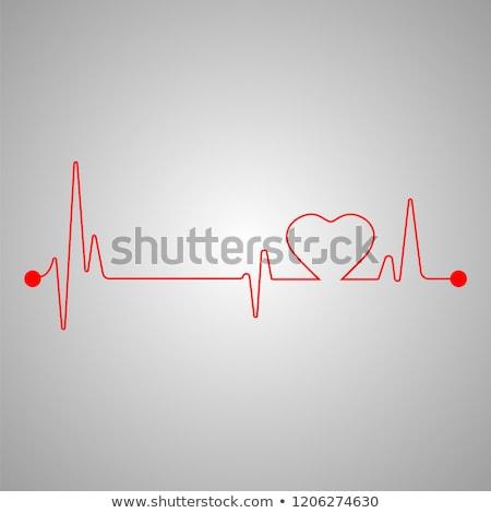 спасательный трос сердцах иллюстрация дизайна сердце кровь Сток-фото © alexmillos