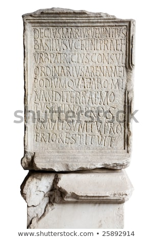 Engraved stone in Coliseum Stock photo © tilo
