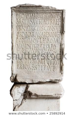 engraved stone in coliseum stock photo © tilo