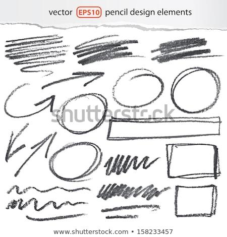 Stock photo: Colorful pencil circles set