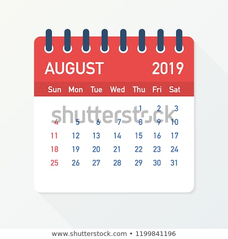 August Calendar Blank Page Stock photo © stevanovicigor
