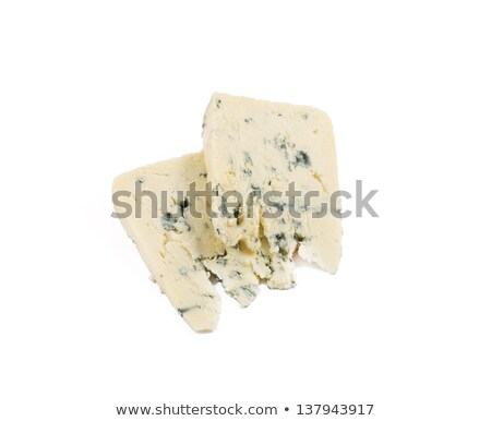Wedge of blue cheese over white Stock photo © lucielang