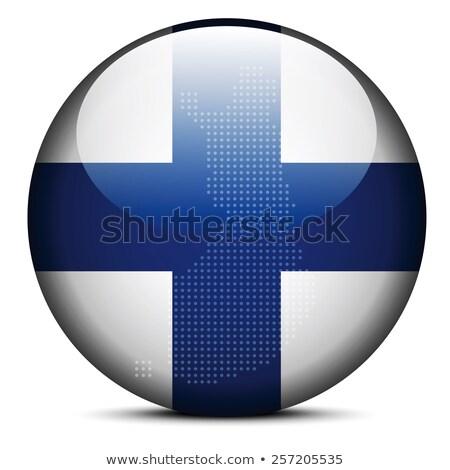フィンランド · フラグ · ボタン · 抽象的な · 青 · シルエット - ストックフォト © istanbul2009
