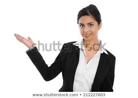 Elegante jonge vrouw witte blouse vrouw meisje Stockfoto © gromovataya