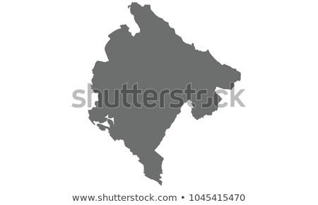 карта Черногория кнопки флаг символ белый Сток-фото © mayboro1964