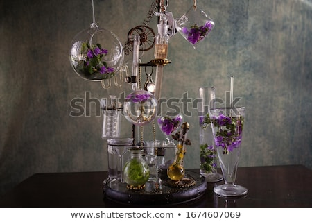 liqueur, flower and a candle Stock photo © Aleksa_D