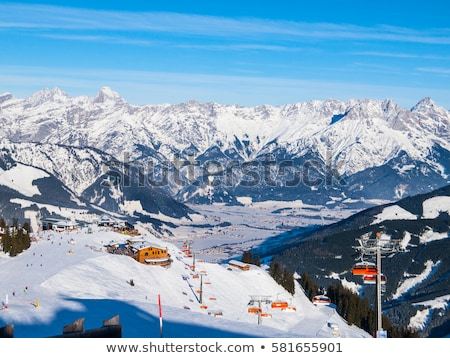 Chairlifts of austrian Alps Stock photo © kasjato