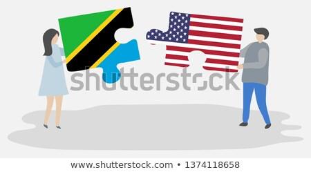 zászló · Tanzánia · fehér · papír · háttér · gyémánt - stock fotó © istanbul2009