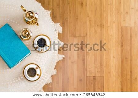 Turecki kawy dwa elegancki biały tabeli Zdjęcia stock © ozgur