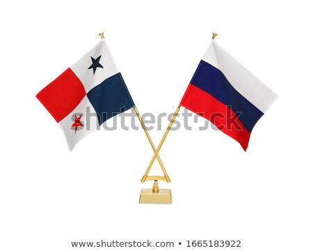 Rusland Panama miniatuur vlaggen geïsoleerd witte Stockfoto © tashatuvango