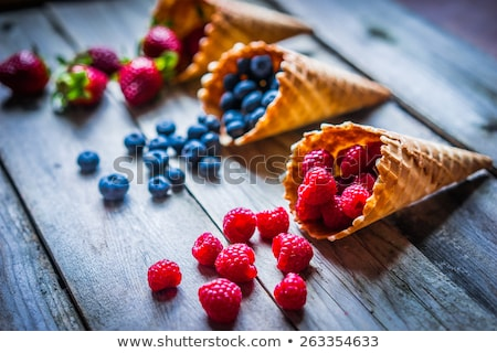 Ripe Strawberry Berries on Ice stock photo © dariazu