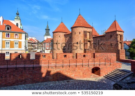 Warschau historisch rond stad nu oude Stockfoto © 5xinc
