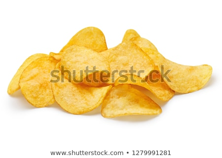 batatas · fritas · branco · fundo · jantar - foto stock © ozaiachin