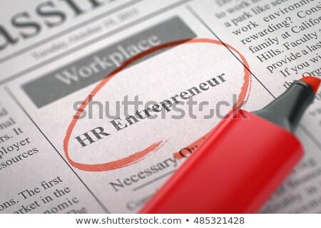 bankschroef · president · menselijke · middelen · krant - stockfoto © tashatuvango