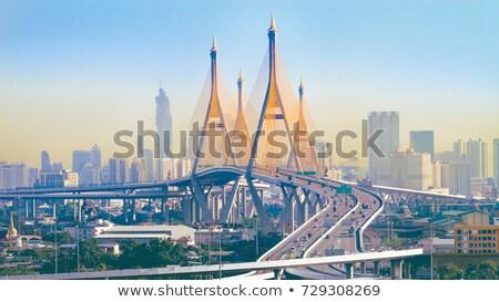 バンコク · 橋 · 産業 · リング · 夕暮れ - ストックフォト © smithore