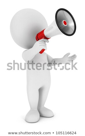 3d man announcement on speaker concept Stock photo © nithin_abraham