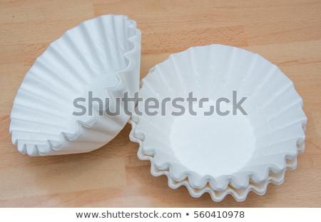 Café filtrer blanche cône sol à l'intérieur Photo stock © Quasarphoto