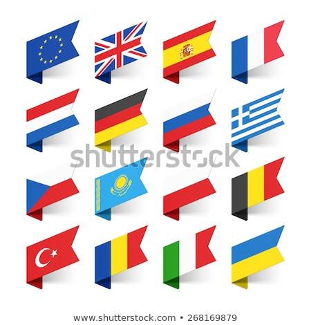 Egyesült Királyság Romania zászlók puzzle izolált fehér Stock fotó © Istanbul2009