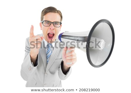 Young geeky businessman pointing to camera Stock photo © wavebreak_media