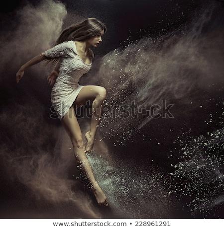 genç · dansçı · kadın · Retro · kız - stok fotoğraf © konradbak