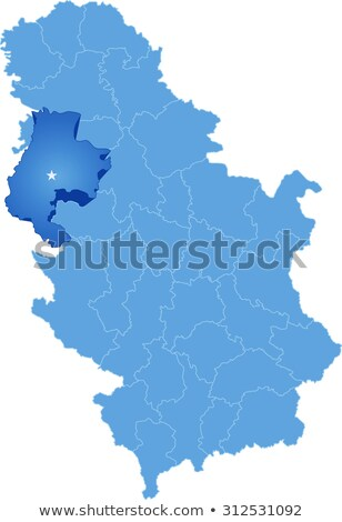 Map of Serbia, Subdivision Macva District Stock photo © Istanbul2009