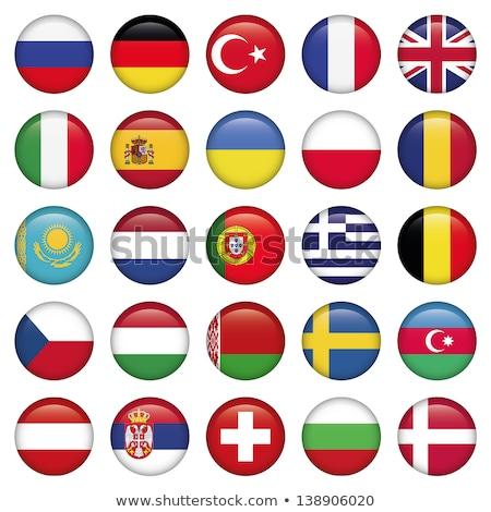 França Azerbaijão bandeiras quebra-cabeça isolado branco Foto stock © Istanbul2009