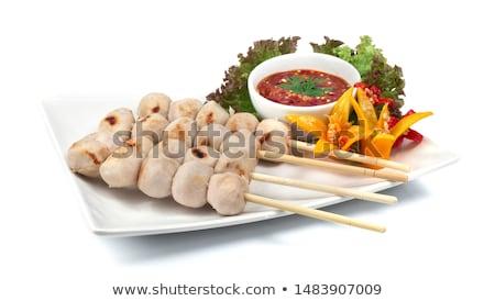 Pikantny przekąska miąższ chili seks restauracji Zdjęcia stock © Fotografiche