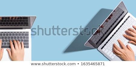 iki · açmak · defter · ofis · teknoloji · işadamı - stok fotoğraf © ozaiachin