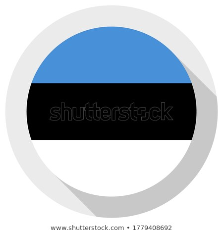 Adesivo bandeira Estônia isolado branco viajar Foto stock © MikhailMishchenko