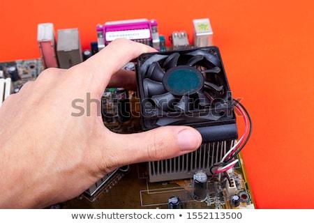 Cpu isolato bianco computer tecnologia sfondo Foto d'archivio © shutswis