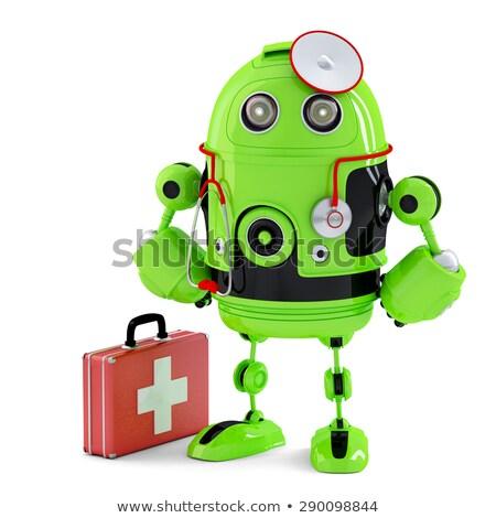 зеленый Медик робота технологий изолированный Сток-фото © Kirill_M